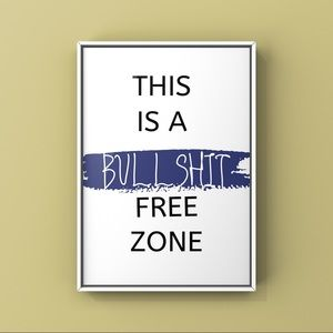 Modern minimalist inspirational saying art print